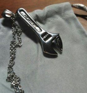 Кулон гаечный ключ подвеска стальная талисман