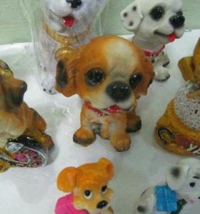 Игрушка Собачка керамическая,новая,сувенир