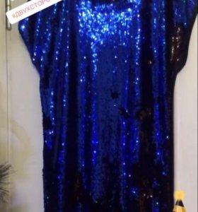 Платье с двухсторонними пайетками