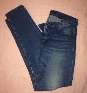 джинсы скинни синие