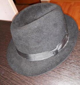 Шляпа,фетровая черная