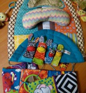 Развивающий коврик + подарки