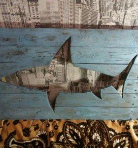 Панно на стену (Акула)