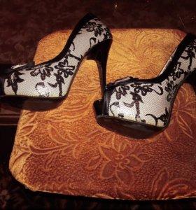 Туфли размер 36-37, каблук 13 см