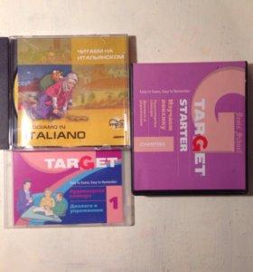 CD диски, английский и итальянский
