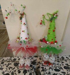 Креативные ёлки хэнд-мейд, подарок на рождество
