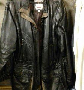 Куртка из натуральной кожи, демисезонная, б/у