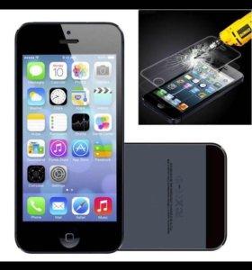 Защитные стекла для iPhone 5/5S/SE/5C
