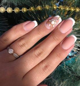 Наращивание и коррекция ногтей,покрытие Гель-лак