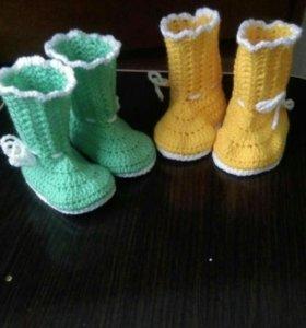 Пинетки и вязание на заказ