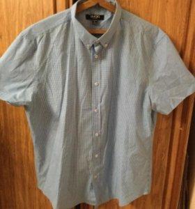 Рубашка клетчатая голубая