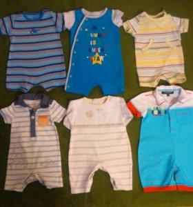 Песочники для мальчика 3-6 месяцев