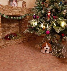 Новогодняя фотосессия у елочки и камина