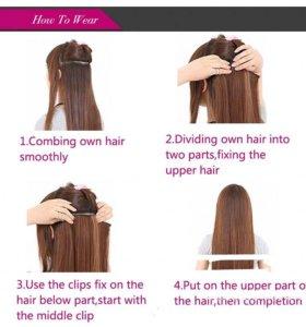 Накладные волосы-парикм