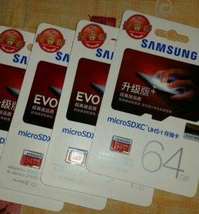Флешка Samsung microSD 64гб.