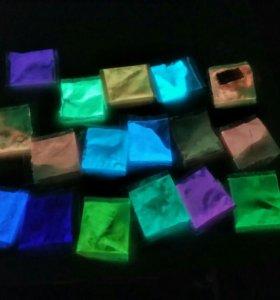 Флуоресцентная краска, для лака, ногтей, рисования