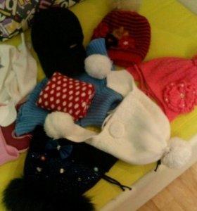 шапки шарфы кепка утеплёная