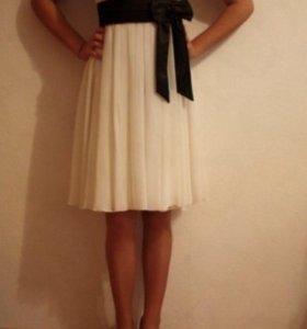 Коктейльное/вечернее белое платье