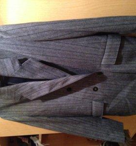 костюм: пиджак-жакет с юбкой, р 46-48