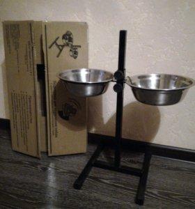 Подставка с мисками для собаки