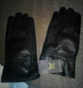 Перчатки мужские кож.