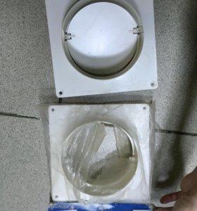 Вентиляция Пластина настенная с соединителем d=125