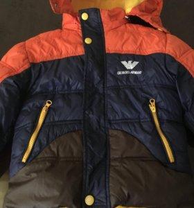 Куртка зимняя на мальчика 3-4 года
