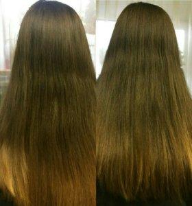 Горячая полировка волос