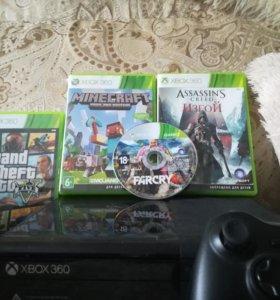 Xbox360 в комплекте ГТА 5, фар край 4, Assasin'S