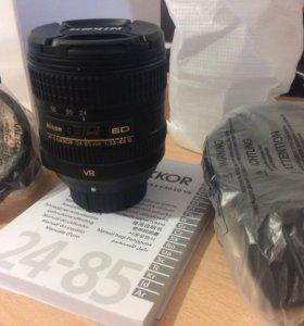 НОВЫЙ Nikon 24-85mm f/3.5-4.5 G ED VR AF-S