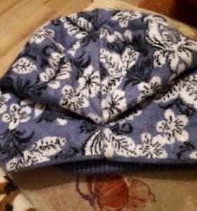 Комплект шапка шарф утеплена