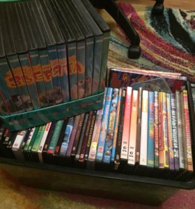 Диски , фильмы , мультфильмы , 115 штук