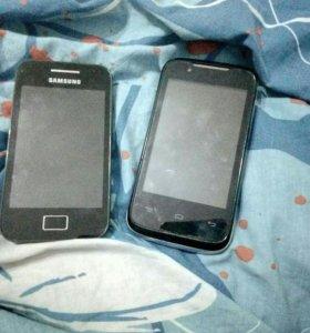 два телефона на запчасти. два за 500