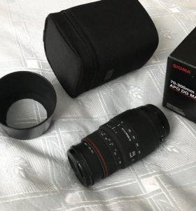 Объектив sigma 70-300mm для canon