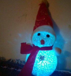 Сверкающий снеговик
