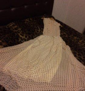 Новое шифоновое платье р.46
