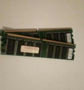 PQI 512 mb DDR-400. 2 планки.