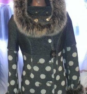 Новое зимнее пальто! С биркой (размер L)