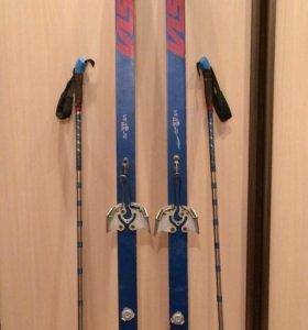 Лыжи Visu полупластик 1987 г