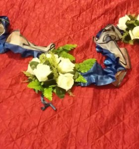 Кольца и ленты на свадебный автомобиль