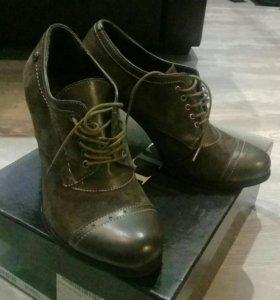 Осенние туфли из натуральной замши