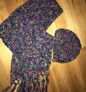 Шапка и шарф вязаные reserved