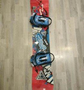 Сноуборд мужской с креплением и ботинками