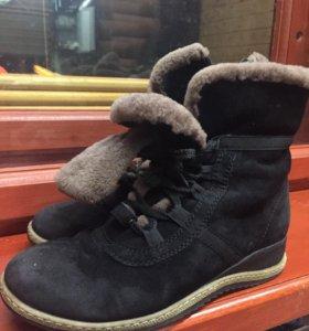 Ботинки женские, замша