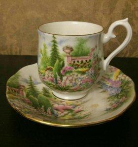 Фарфоровая кофейная пара royal Albert