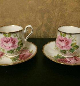 2 Фарфоровые кофейные пары Royal Albert