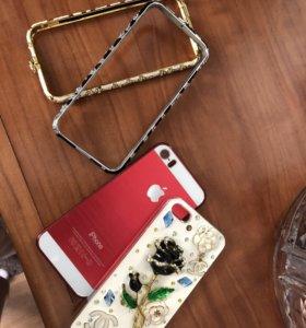 Чехлы и накладки на 5 iPhone 700 р за все