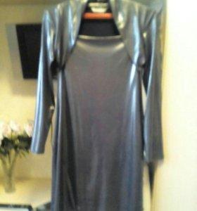 Платье ,цвет металик