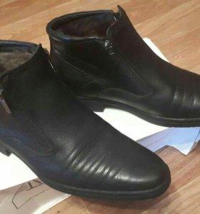 Ботинки зима муж. новые кожа натуральн. 38 размер