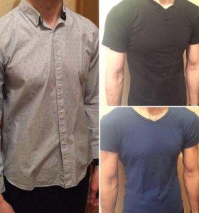 рубашка футболки и кофты (цена за все 6 вещей)